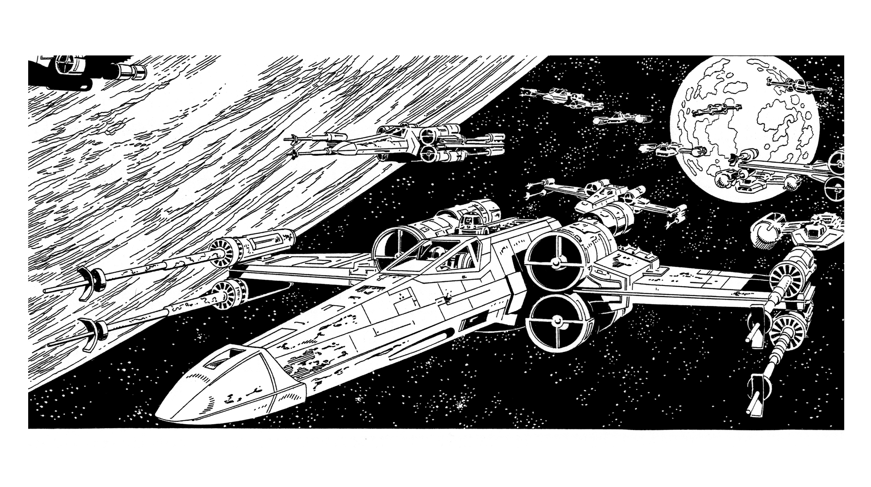 Rebel Ships Over Yavin