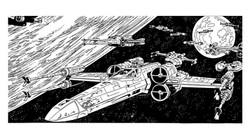 Rebel Ships Over Yavin