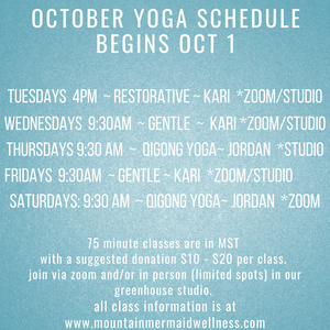 October Yoga Schedule
