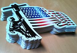 American Flag Edison decals