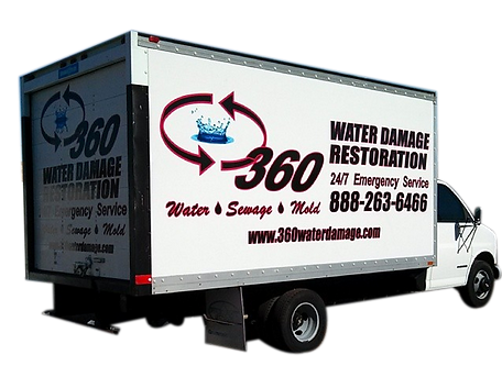 Box Truck Wrap Water Restoration Emergency Service