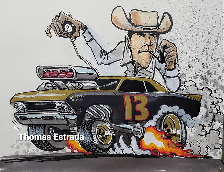 ORIGINAL Smokey Chevelle 8x10 Illustration.