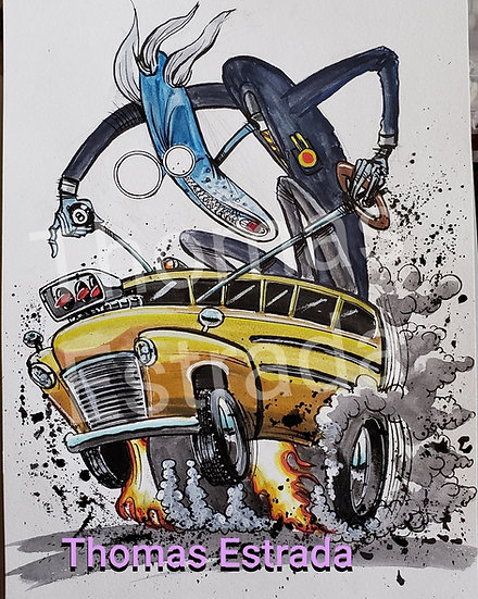 """ORIGINAL """"Schoolmaster"""" 11x14 Illustration"""