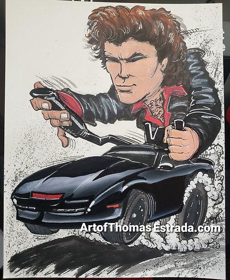 """ORIGINAL """"Knight Rider"""" 11x14 Illustration."""