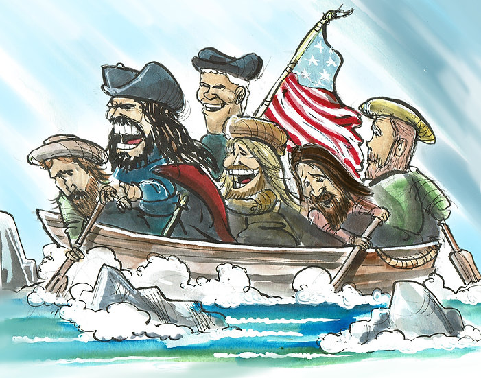 """Foos Over the Delaware"" Hand Signed Print"