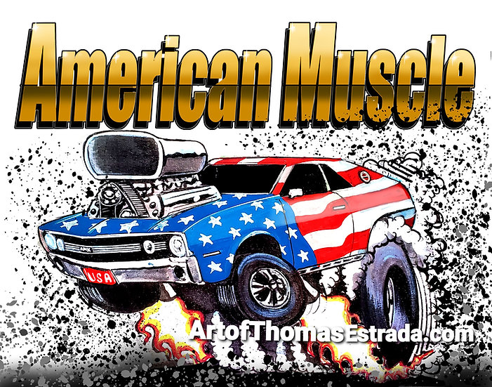 American Muscle AMX Print