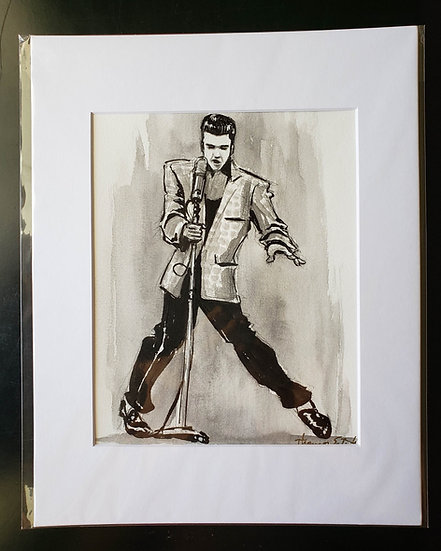"""The King"" 8x10 ORIGINAL Illustration"
