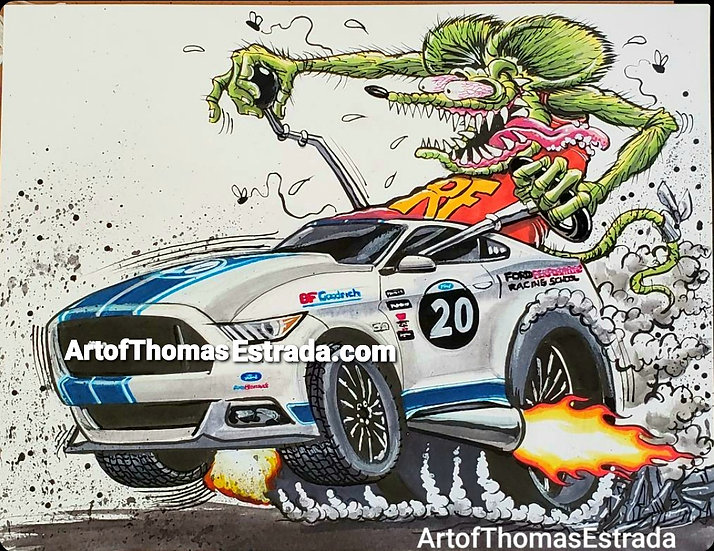 Mustang GT Fink Poster