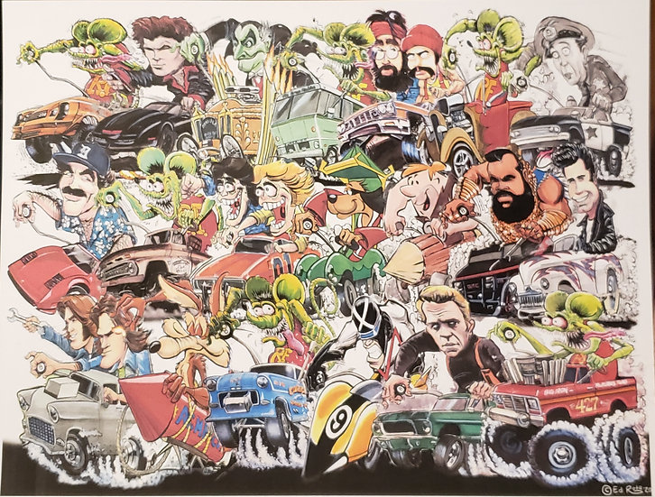 18x24 Rat Fink Grand Prix VOL.2