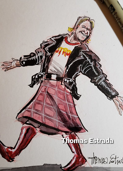 ORIGINAL 5x7 Roddy Piper