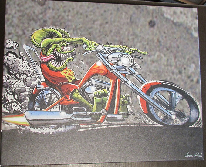 16x20 Motorcycle Fink  CANVAS PRINT