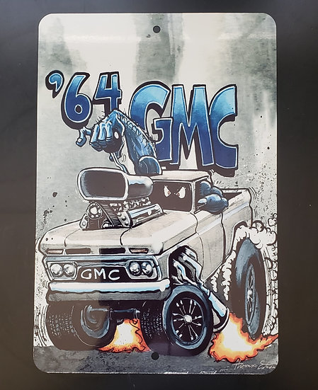 8x12 Aluminum Sign 64 GMC