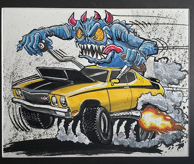 "ORIGINAL ""Buick GSX"" 8x10 Illustration"