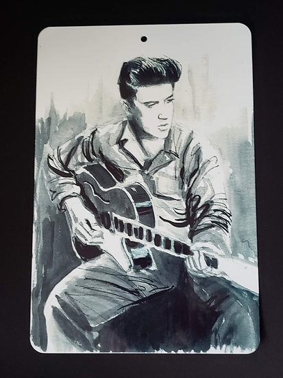 8x12 Aluminum Sign Elvis Presley