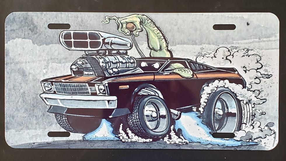 Roadrunner Metal License Plate