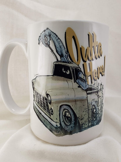 "LARGE 15oz. Mug ""Outta Here: Chevy"""