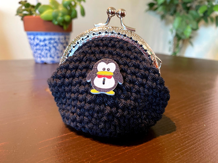Coin Purse Onyx Penguin