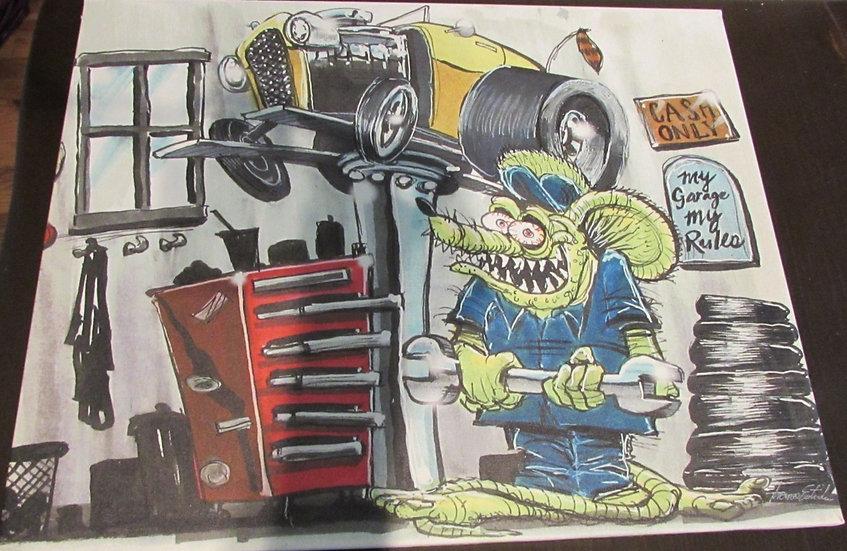 16x20 Garage Rat CANVAS PRINT
