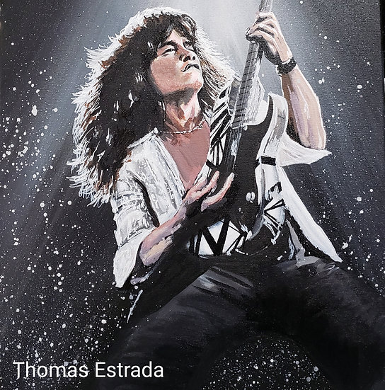 "LIMITED EDITION ""EVH"" Hand Signed and Numbered 16x20 CANVAS"