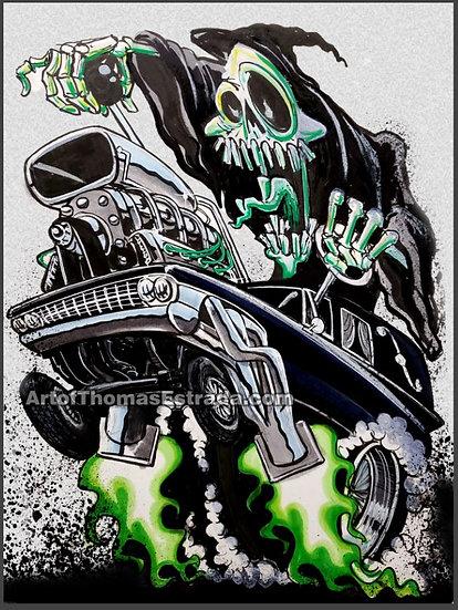 Graveyard Gasser 11x14 Print