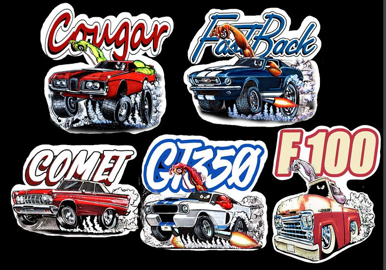 Ford Decal Five Pack
