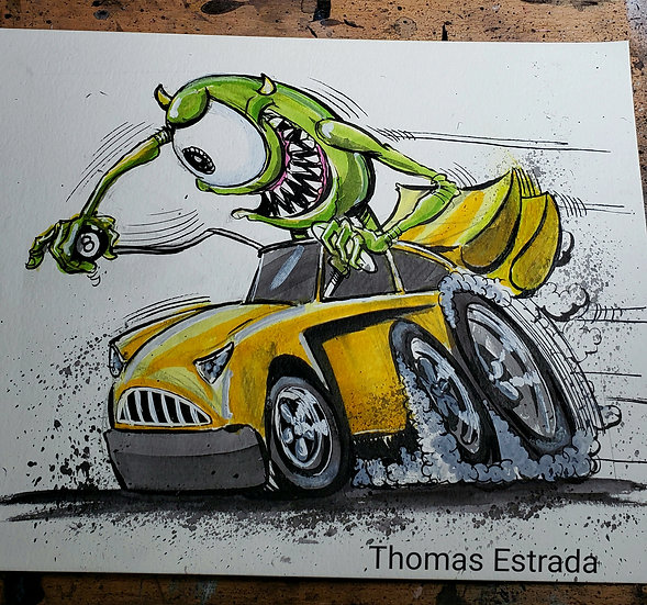 "8x10 ORIGINAL ""Mike's New Car"""