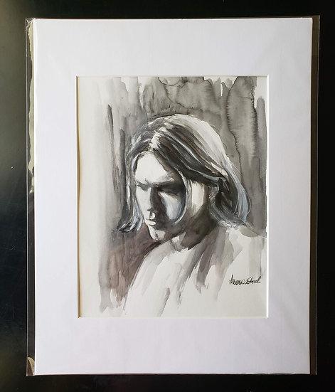 """ORIGINAL """"Kurt"""" 8x10 Painting"""
