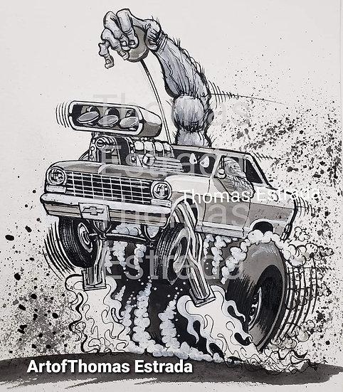 Chevy II Nova Print