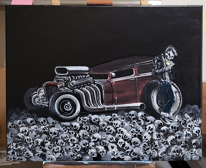 """""""King of the Road"""" ORIGINAL 16x20 Acrylic on Canvas"""