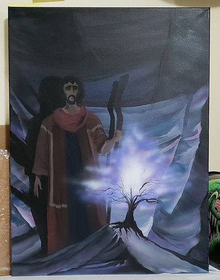 "Original 18x24 ""Holy Ground"" Acrylic on Canvas"