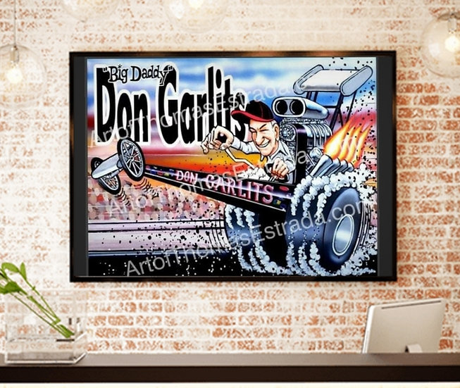 """OFFICIALLY LICENSED -LIMITED EDITION 16x20 """"Big Daddy Don Garlits""""  Canvas Print"""