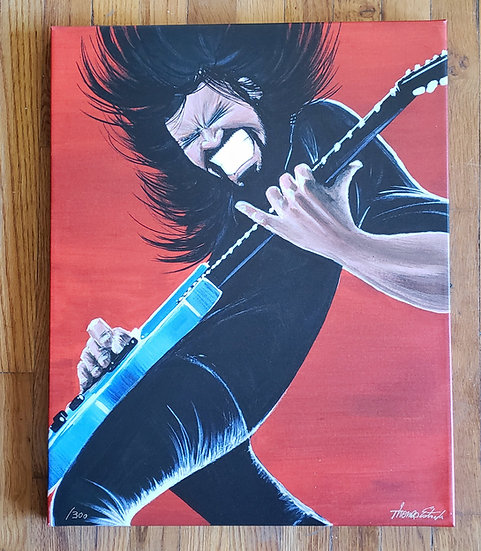 """LIMITED EDITION """"Red Dave"""" Hand Signed and Numbered 16x20 CANVAS Print"""