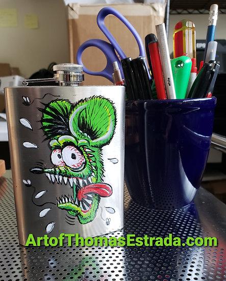 Hand Painted Metal Flask