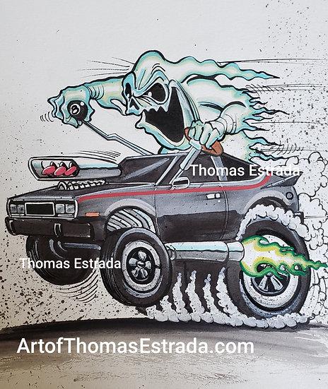 "ORIGINAL ""AMC Spirit"" 11x14 Illustration"