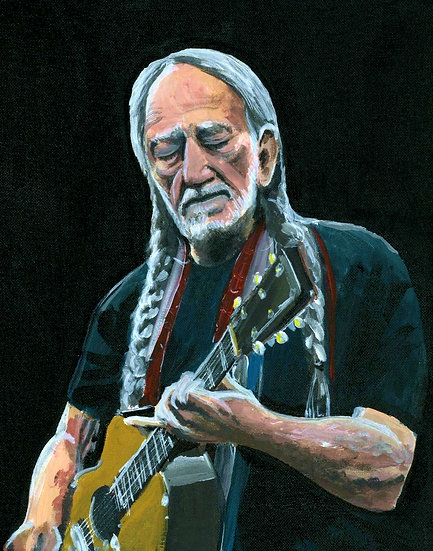 """Willie"" ORIGINAL 11x14 Acrylic on Canvas Painting"
