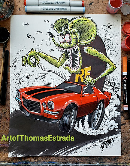 """Z28"" Official Rat Fink Print"