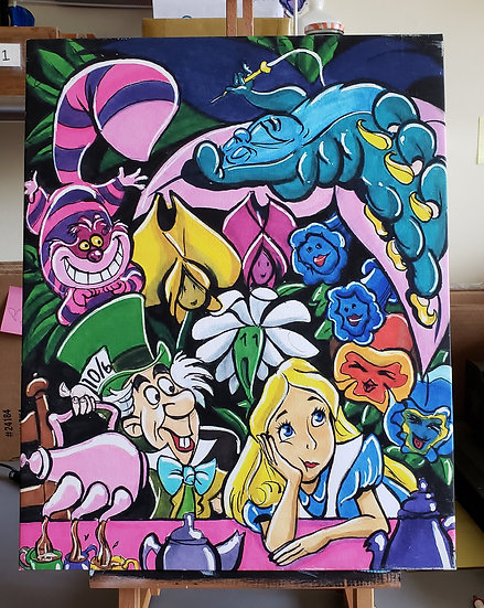 Alice in Wonderland 16x20 Canvas Print
