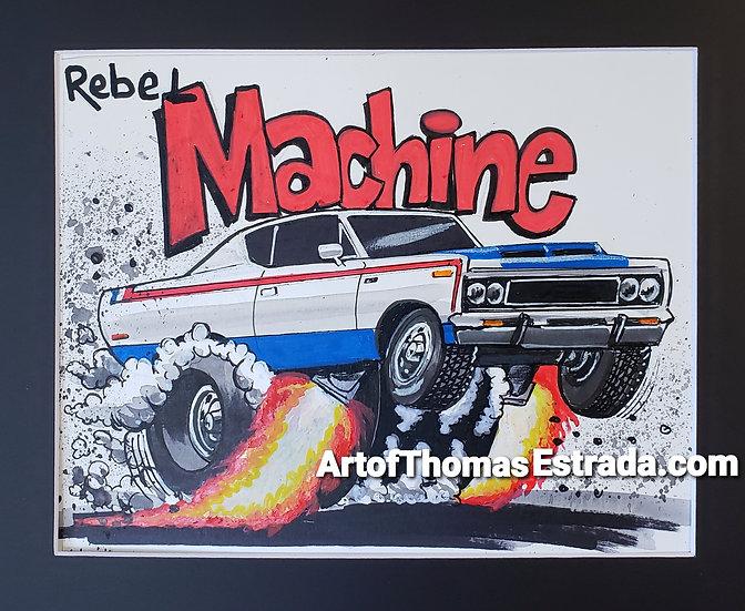 """ORIGINAL 8x10 """"Machine"""" Illustration."""