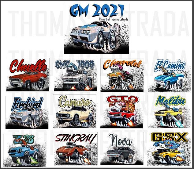 2021 GM Hand Signed 12 Month Calendar