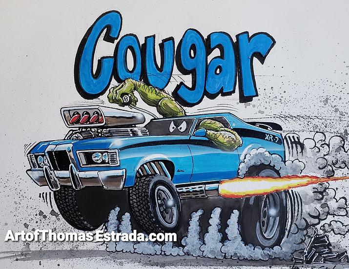 ORIGINAL 11x14 Cougar XR-7