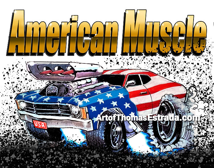 American Muscle Chevelle Print