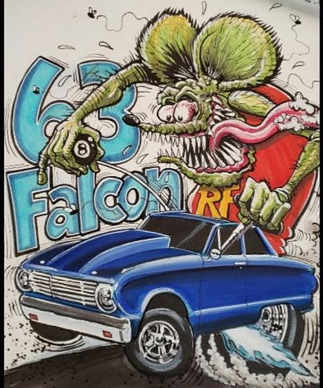 '63 Falcon Official Rat Fink Print