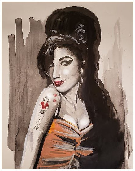 """Amy Winehouse""  Print"