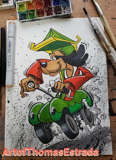 ORIGINAL 8x10 Watercolor/ink Hong Kong Phooey Fink