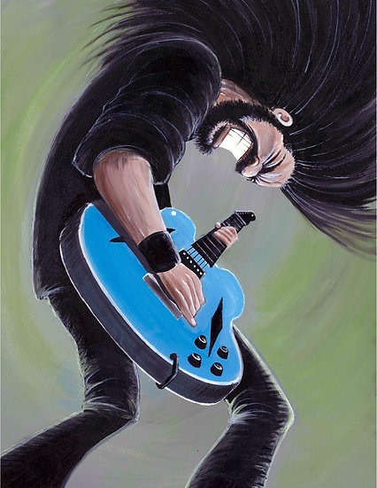 """LIMITED EDITION """"Green Dave"""" Artist Signed and Numbered 16x20 CANVAS Print"""