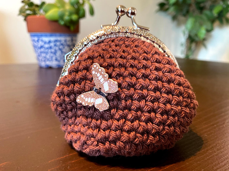 Coin Purse Chocolate Butterfly