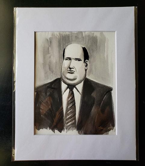 """Kevin"" 8x10 ORIGINAL Ink Painting"