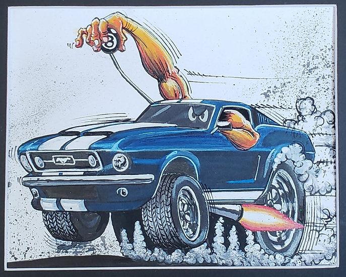 "ORIGINAL ""FastBack"" 8x10 Illustration"