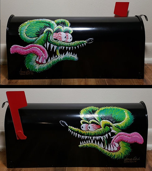 Hand Painted Steel Mailbox