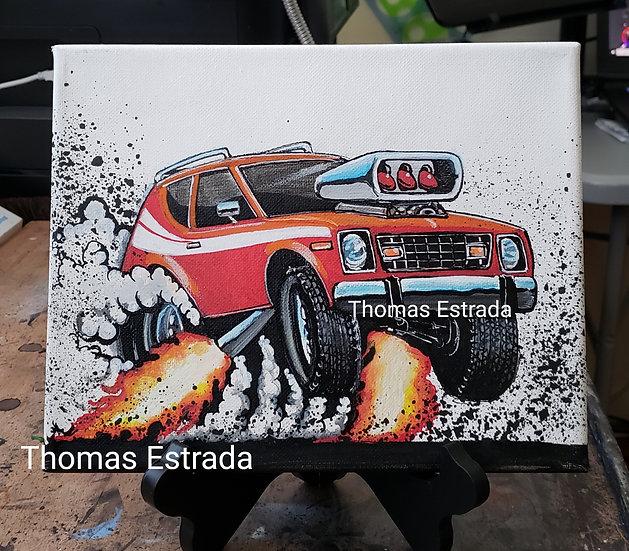 "Original 8x10 ""Gremlin"" Acrylic on Canvas"